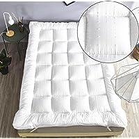 rejuvopedic New Single Bed Size Microfibre Mattress Topper,** New 3D Massage Bubbbles Fabric**, Box Stitched, 230 TC Cover & Elasticated Corner Straps