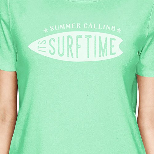 365 Printing T-shirt - Manches Courtes - Femme Taille Unique Summer Calling It's Surf Time