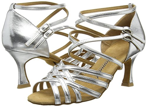 Diamant Diamant Latein Damen Tanzschuhe – Standard Latein Silber 108-087-013 - 5