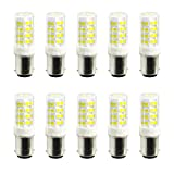 JIALUN- LED 52LED 2835SMD 400-500 Lm BA15D 5W Warmweiß Cool White Dimmbare LED Keramik Lampe ( Color : Cool White , Size : 220-240V )