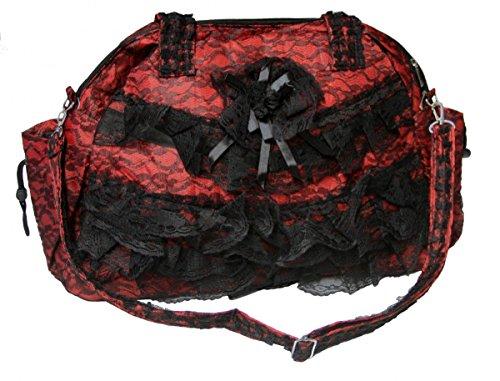 Unbekannt Dark Dreams Gothic Mittelalter LARP Große Viktorianische Spitzentasche - Viktorianischen Tanz Kostüm