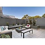 ProBache - Brise vue renforcé 1,8 x 10 m gris 220 gr/m² luxe pro