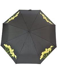 Paraguas plegable de cierre automático de cambio de color, color freesia
