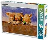 Schwein gehabt 1000 Teile Puzzle quer (CALVENDO Spass)