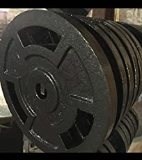 BODY MAXX Bright Steering Cut 40 Kg Cast Iron Weight Lifting plates (10 Kg x 4 Pieces)