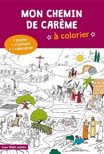 Mon chemin de Carême à colorier par Anne-Sophie Droulers