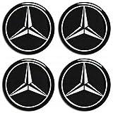 M.E.R.C.E.D.E.S Mercedes Benz 4 x 75mm Aufkleber Logo Emblem Felgen Sticker