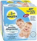 Penaten, Bébé lingettes sans parfum sensitive paquet économique, 4x56 (224) Unités