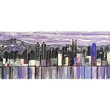 Lienzo Skyline Barcelona 150x70x3