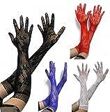 SED Europa und die Vereinigten Staaten HEI?e Liebe Zubeh?r Langarm-Handschuhe Mesh-Handschuhe Ritual Handschuhe Jacquard-Handschuhe Weiblich,Schwarz