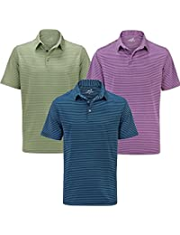 Woodworm Golf Feeder Stripe Polo Shirt 3 Pack - Mens
