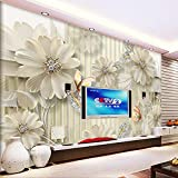 Benutzerdefinierte Foto tapeten Stereoskopischen Schmuck Diamant Blume Wandmalerei Moderne Wohnzimmer Sofa TV Hintergrund Wandbild Tapete 5D 250x175cm