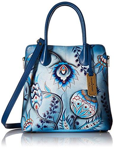 Anuschka Handgemalte Leder Luxus Handtasche Damen - 551 Bewitching Blues, Geschenk für Muttertage,umhängetasche (Anuschka Umhängetasche)