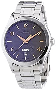 Armand Nicolet Men's Automatic Watch with Grey Dial Analogue Display and Silver Stainless Steel Bracelet 9740A-GS-M9740