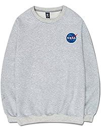 CHENMA Hommes NASA Imprimer Hiver Molleton Chaud À Manches Longues Pulls  Sweatshirt 878857fcc9df