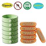 AXYSM 12 Pack 100% Naturel Anti-Moustiques Bracelets pour Adultes et Enfants, Protection Extérieure Intérieure, sans Deet et étanches