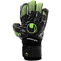 Uhlsport Eliminator Absolutgrip Bionik+ Guantes, Negro/Verde Fluor, 10