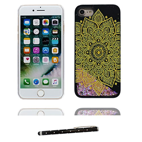 "Hülle iPhone 6, [ Liquid Fließendes Glitzer Bling Bling Floating sparkles] iPhone 6S Handyhülle Cover (4.7 zoll), iPhone 6 Case Shell (4.7"") Anti-Beulen & Touchstift - (Make-up Elegant) Schwarz 5"