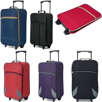 Folding Travel Bag Hand Luggage on Wheels 55x35x20cm Wheeled Cabin Case Flight Bag