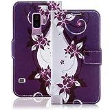 numerva Handyhülle kompatibel mit Samsung Galaxy S9 Plus Hülle [Blumen Muster] Case Galaxy S9+ Handytasche