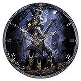 Uhr Play Dead Clock by James Ryman Reaper Totenschädel 34 cm Figur Hardrock rock musik Gitarre
