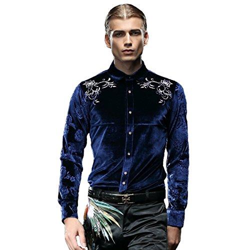 Fanzhuan abito camicia camicia uomo classica azzurra camicia smoking uomo camicia uomo slim fit elegante
