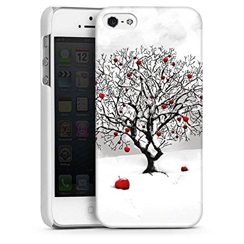 Apple iPhone 4 Housse Étui Protection Coque Hiver Neige Arbre CasDur blanc