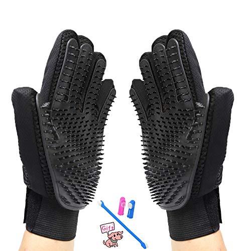 PetLand Katzen-Handschuh für Schuppen [2018 Upgraded], Magic Pet Fellpflege-Handschuh für Hunde und Katzen/Kaninchen / Pferde (1 Paar) -