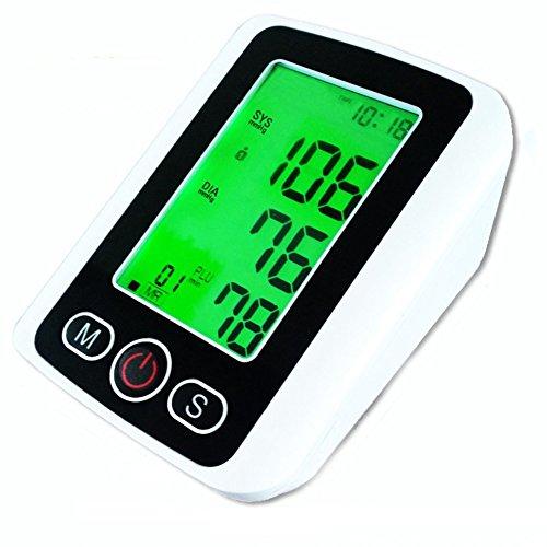 XSQRXYQ DREI-Farben-Hintergrundbeleuchtung mit Stimme Arm Blutdruck Pulsmesser mit Sprachfunktion LCD Portable Heart Beat Meter automatische Gesundheitspflege