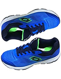 Leather Shoes Men Lotto Men's Pounce Running Shoes Dark Blue - 8