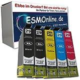 5 komp. XL Druckerpatronen für Epson 29 / Epson Expression Home XP-235 XP-245 XP-247 XP-332 XP-335 XP-342 XP-345 XP-342 XP-345 XP-442 XP-445 Epson 29XL 2 x schwarz 1 x blau 1 x rot 1 x gelb