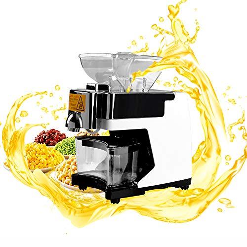 QWERTOUY Mini máquina de extracción de prensado de Aceite de maní para Uso doméstico/máquina de procesamiento de Aceite de Cacahuete Máquina de Molino de Aceite