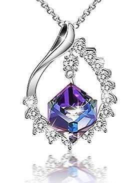 SIVERY 'Magic of Love' Farbe ändern Halskette, mit Swarovski Kristall, schmuck damen, halskette damen, geburtstagsgeschenk