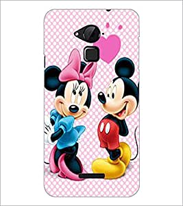 PrintDhaba Mickey and Minnie D-2356 Back Case Cover for COOLPAD NOTE 3 LITE (Multi-Coloured)