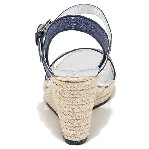 9842M sandalo zeppa HOGAN scarpe donna sandals shoes woman blu Blu