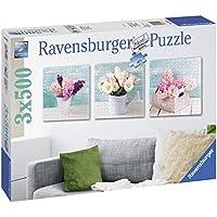 Ravensburger Italy 199228 - Puzzle Dillo con Un Fiore, 3 X 500 Pezzi Quadrati, Multicolore