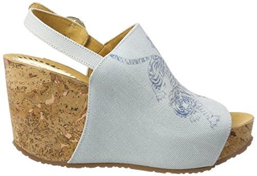 Desigual Shoes_Swan Tigers, Sandali con Zeppa Donna Blu (5098 Starlight Blue)
