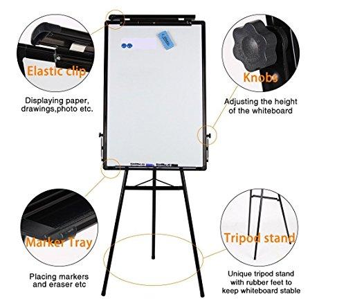 Magnetisches Whiteboard mit Stativ, Staffelei für Flipchart, von G4RCE, 60x 90cm, höhenverstellbar, von G4RCE (Staffelei-stativ-flipchart)