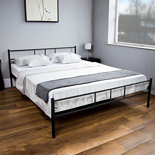 Preisvergleich Produktbild Generic A1. num. 6480. Cry. 1. Doppelbett Metall ZE Bett M 5 ft Schlafzimmer Rahmen 5 Möbel Modern Furni Stahlrahmen Lac schwarz New. NV 1001006480-wruk23