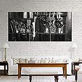 XiaoHeJD Image et Affiche Toile Peinture Moderne Murale Art Print Pop Art Outils de Coupe de Cheveux Mur Photos pour Salon 3 Pieces-SIZE2...