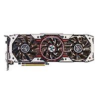 KKmoon Colorful iGame GTX1080Ti Vulcan AD Grafikkarte 1594 / 1708MHz 11GB GDDR5X 352bit PCI Express 3.0 DirectX 12 SLI VR Ready mit HD DP DVI Port 3 Lüfter