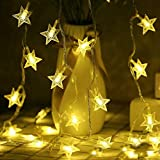 Techno E-Tail Decorative LED Star String Lights For Christmas Decoration (Standard,White)