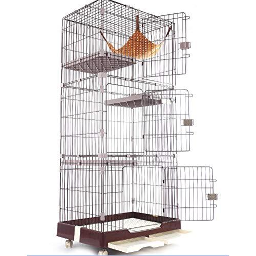 Cat cage cat villa cat cage three-layer pet cat + stairs · hammock Pet fence