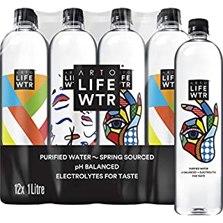Arto LIFEWTR Premium Purified Water, 1L (Pack of 12)