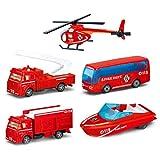 YAHAMA Feuerwehr Auto Kinder Löschfahrzeug Spielzeug 5er Spielzeugautos Set Feuerwehr ab 3