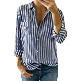Blusen Damen Langarmshirt Mode Frauen Gestreiften T Shirt Damen Lose Langarm Tops Bluse Pullover Shirts Oberseiten,ABsoar