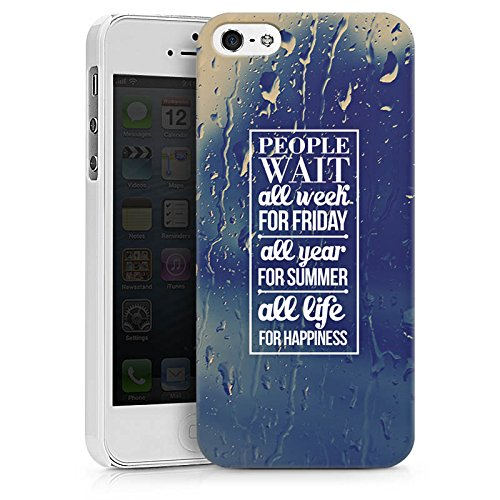 Apple iPhone X Silikon Hülle Case Schutzhülle Glück Sprüche spruch Hard Case weiß