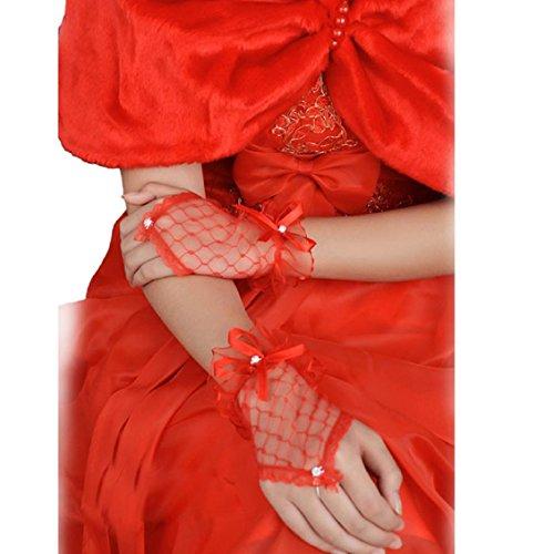 Handschuhe Transer® Mädchen Fashion Sexy Hochzeit Handschuhe für Abend Party Kleid Braut Fingerlose Fäustlinge Spitze Kurz Handschuhe