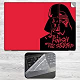 Star Wars Vader Minimal Art in Red Lapto...