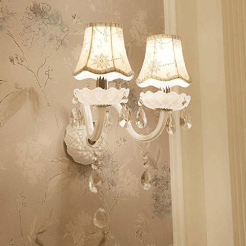 GAODUZI Cristal Mur Lumière Salon Mur Lumière LED Bougie Chambre Chevet Lampe Allée E14 ( taille : 35cm )